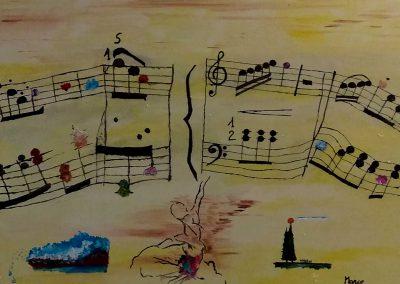 LA MUSICA NELL'ARTE - RITMO, SUONI, SILENZI E ARMONIA -BIONDIMARCO